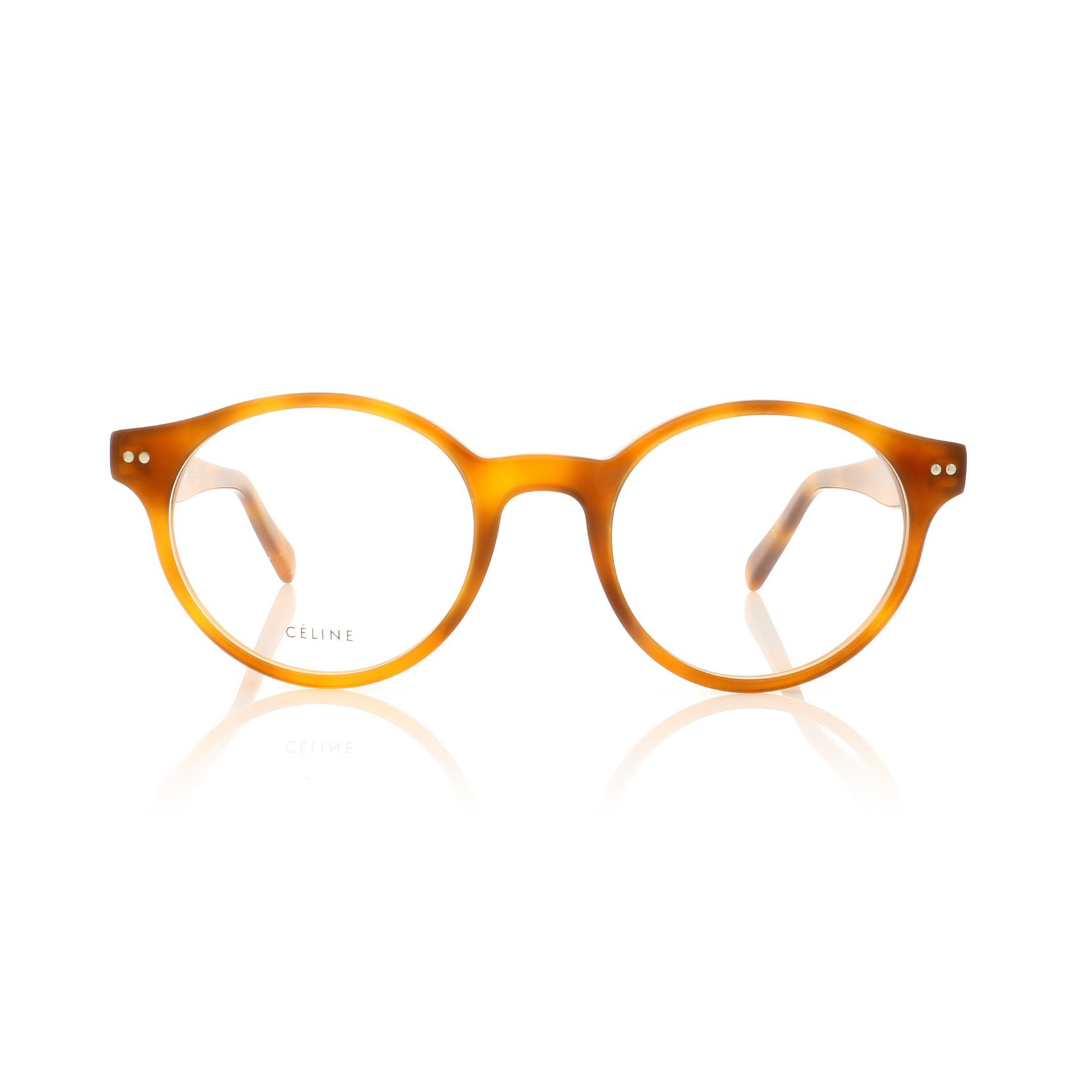 CELINE- CL50008I Optical  £240 (Sold out)  COLOUR Blonde Tortoise  CATEGORY Glasses  MATERIAL Acetate  SHAPE Round