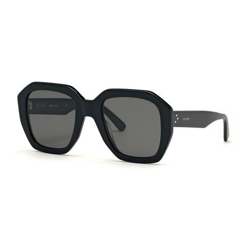 CELINE - CL40045I Sunglasses  £290  COLOUR Black/ Grey Lens  CATEGORY SUN  MATERIAL Acetate  SHAPE Geometrical