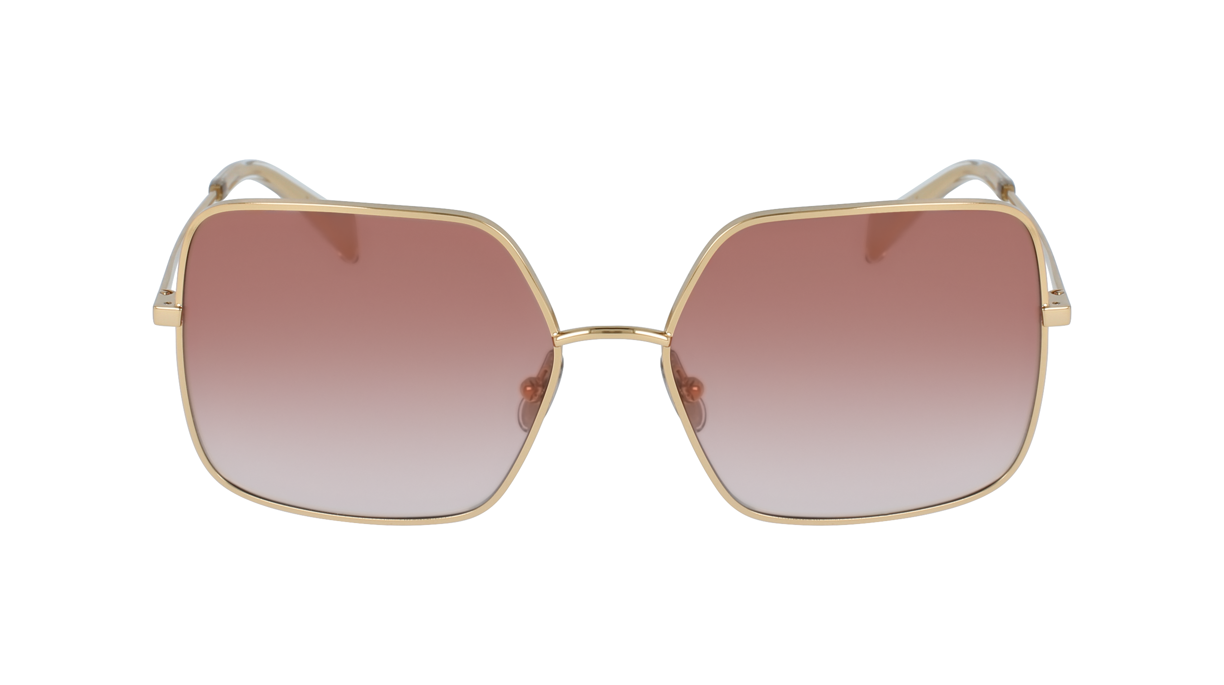 CELINE CL40078U 30T  £290  COLOUR Gold/Gradient Brown  CATEGORY Sunglasses  MATERIAL Metal  SHAPE Square