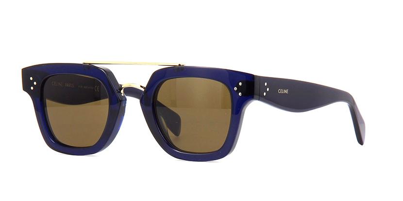 CELINE CL4024UN 90E Sunglasses  £340  COLOUR Navy Blue/Green  CATEGORY SUN  MATERIAL Combination  SHAPE Wayfarer