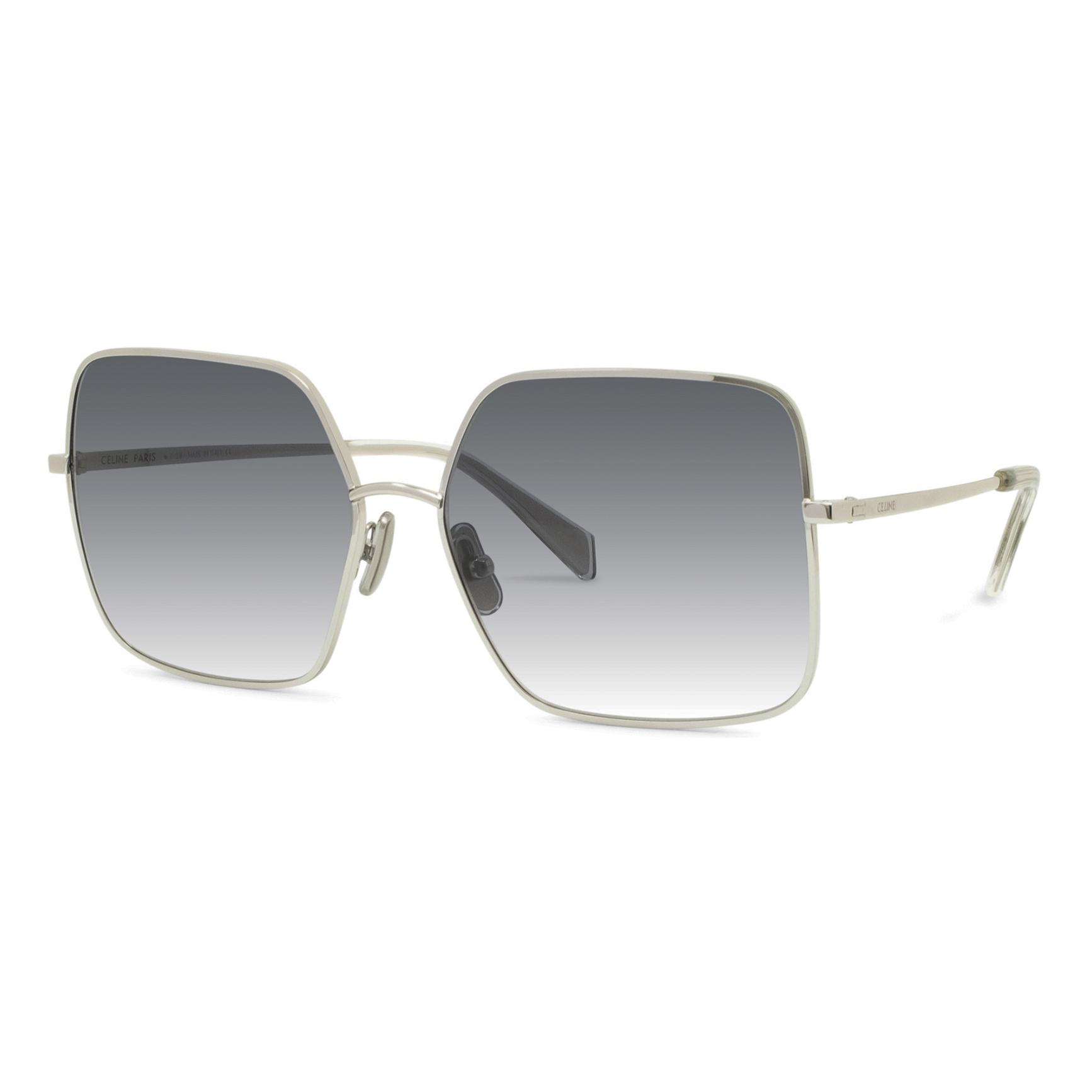 CELINE CL40078U 16W  £290  COLOUR Silver/Gradient Grey  CATEGORY Sunglasses  MATERIAL Metal  SHAPE Square