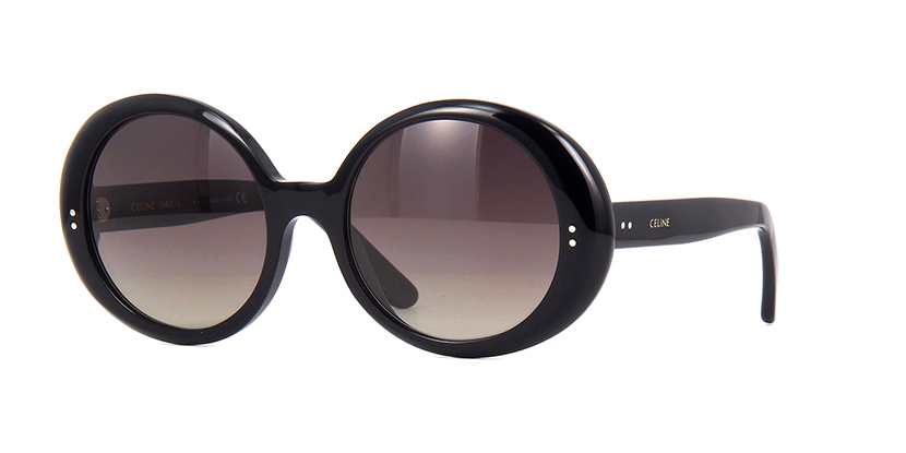 CELINE CL40065I O1F  £310  COLOUR Black/Polarised Brown Gradient  CATEGORY Sunglasses  MATERIAL Acetate  SHAPE Round