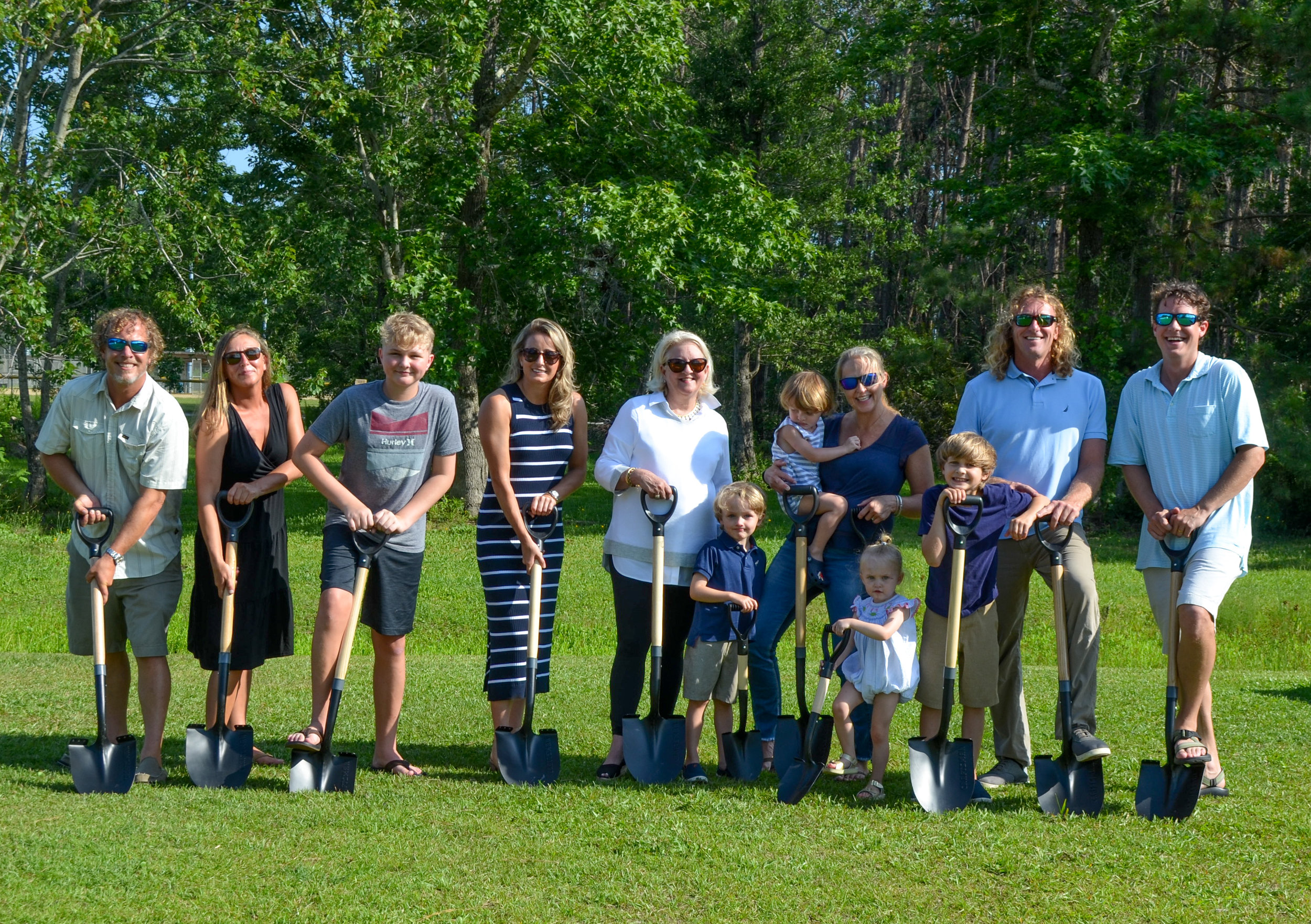 On June 19, 2019, a ground-breaking ceremony was held at Eastern Park in Smyrna, NC for the new installation of the inclusive play-set in honor of Sarah James Fulcher. Members of her family and Another Perspective were present to celebrate!