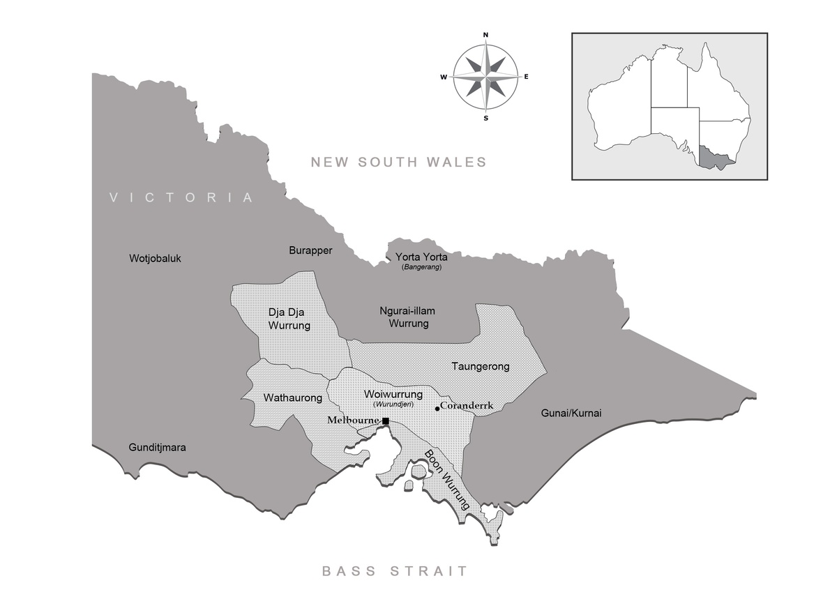 Map of Victoria, with indigenous designations.  Source