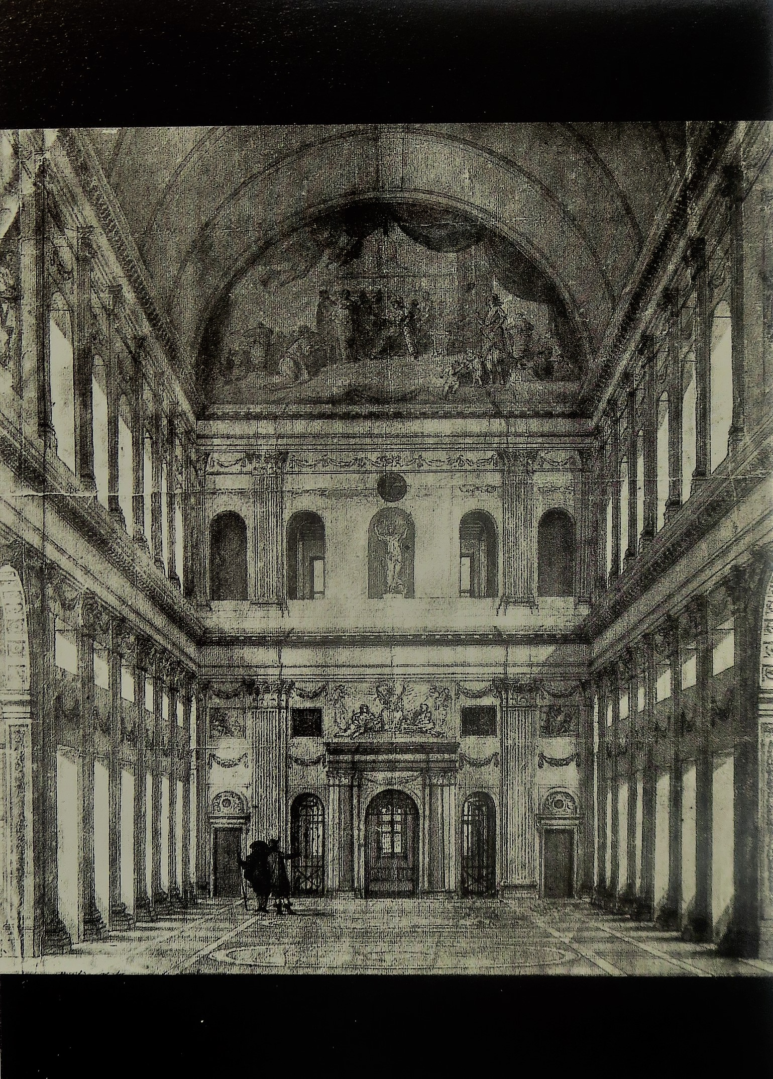 1662 depiction of the  Burgerzaal  of the town hall by its architect, Jacob van Campen.