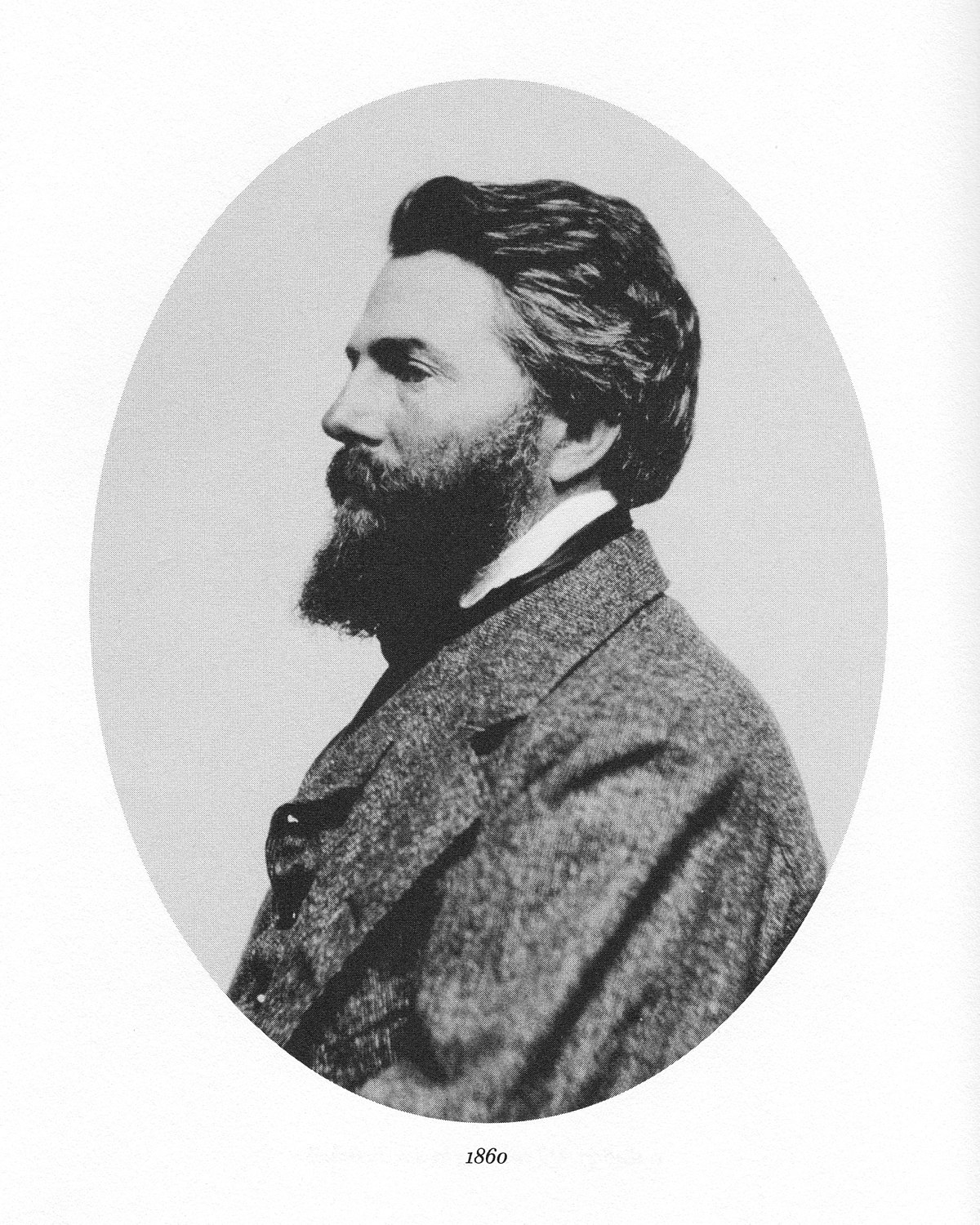Herman Melville, being confused about which direction the camera is