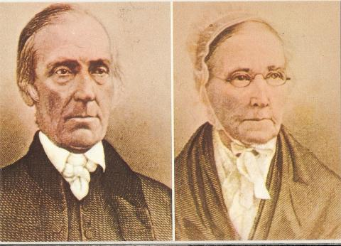 Levi and Catharine Coffin. They might not look very fun, but through their rebellious actions these two harboured around 2000 fugitive slaves in their home prior to the Civil War. They must have had the pro-slavery lot Quakering in their boots.