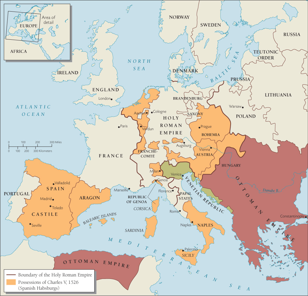 Map of Europe c. 1530s  Source