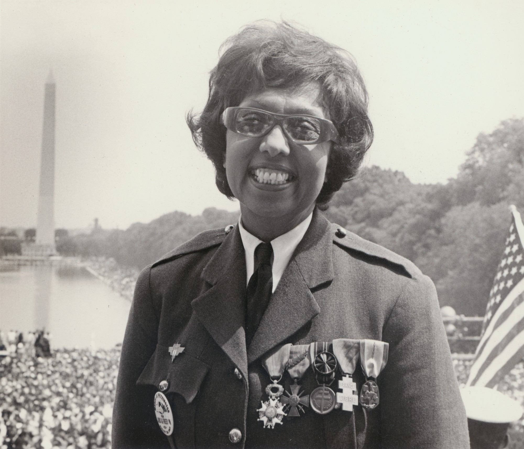 Josephine Baker wearing her medals of honour, post WWII.
