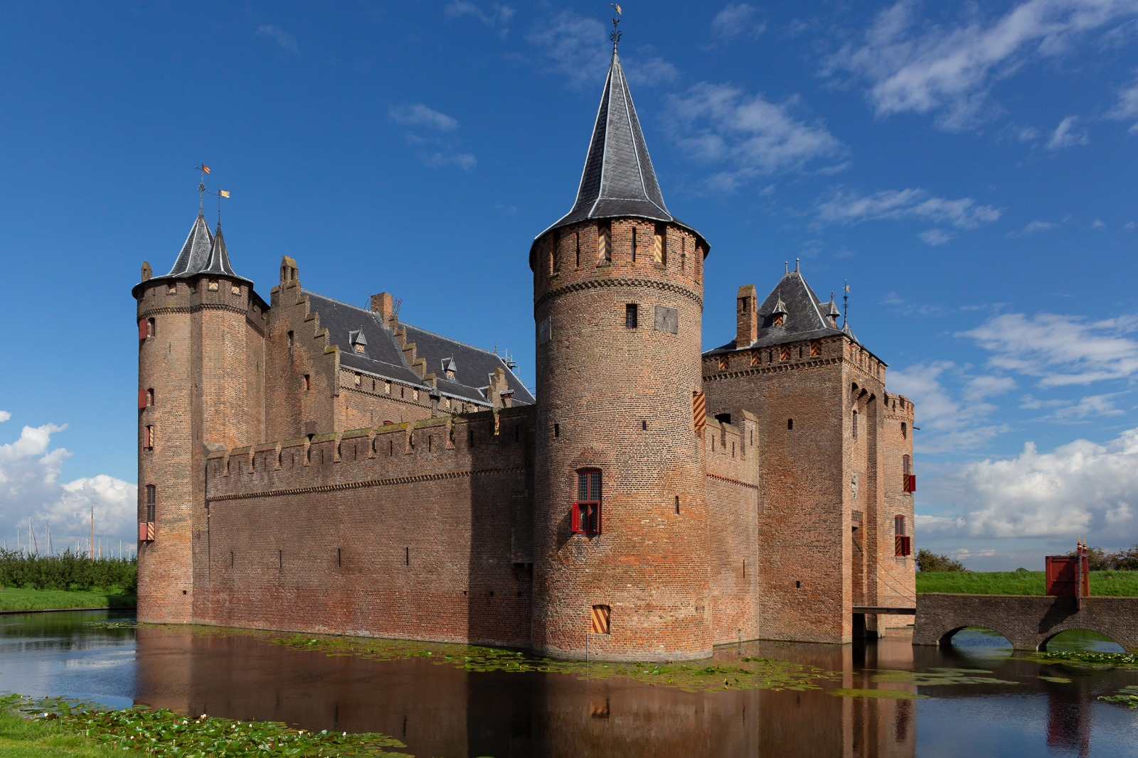 Muiderslot in North Holland, the Netherlands. Photo by David Cenzer.