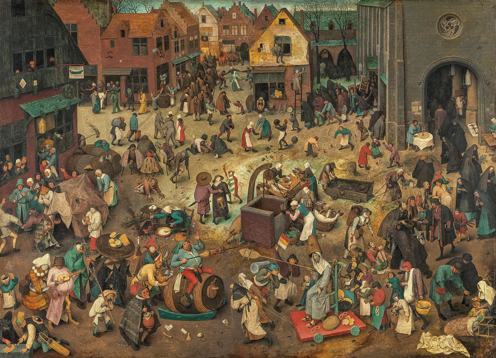 The Battle Between Carnival and Lent  by Pieter Bruegel the Elder, 1559
