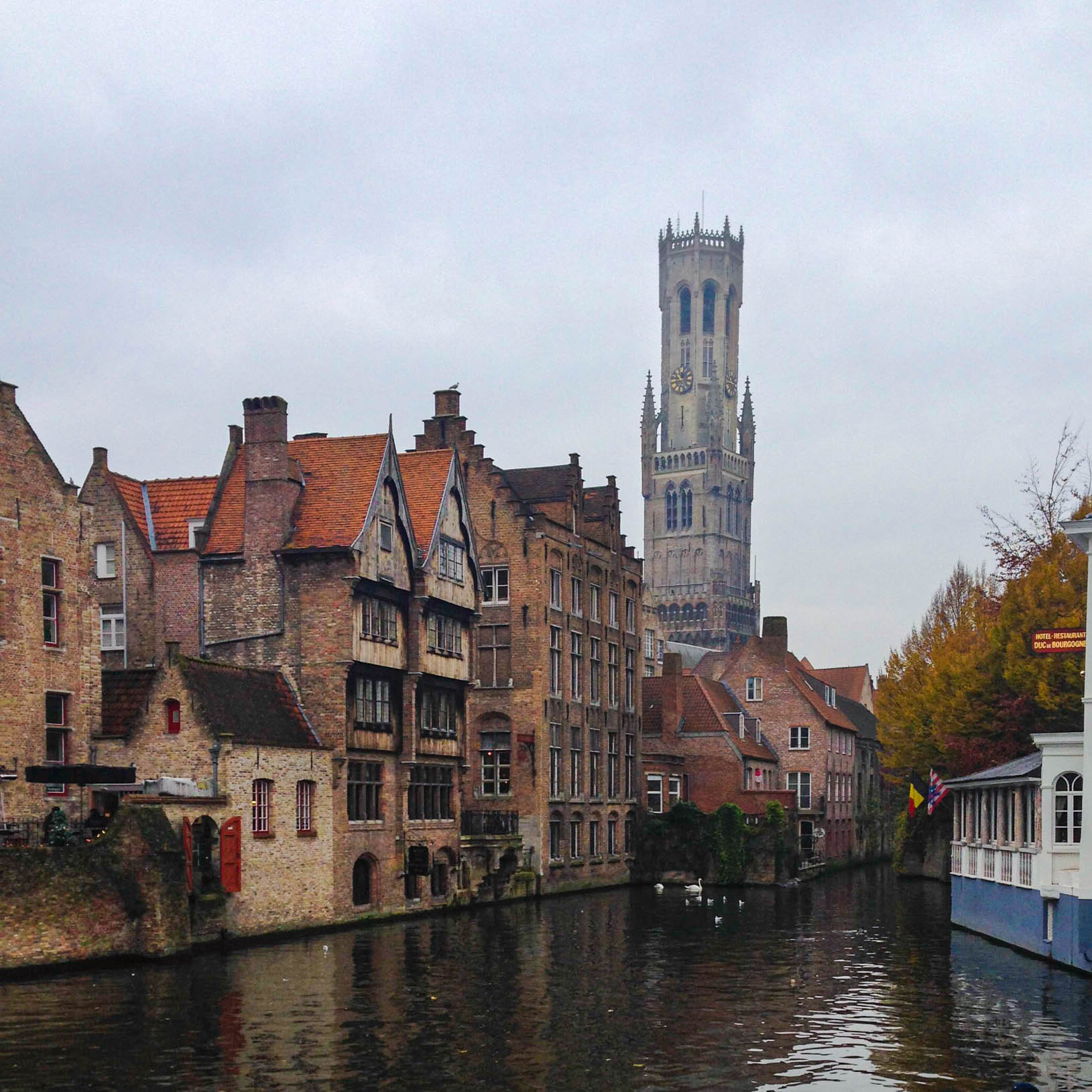 The iconic belfry of Bruges. Photo by David Cenzer.