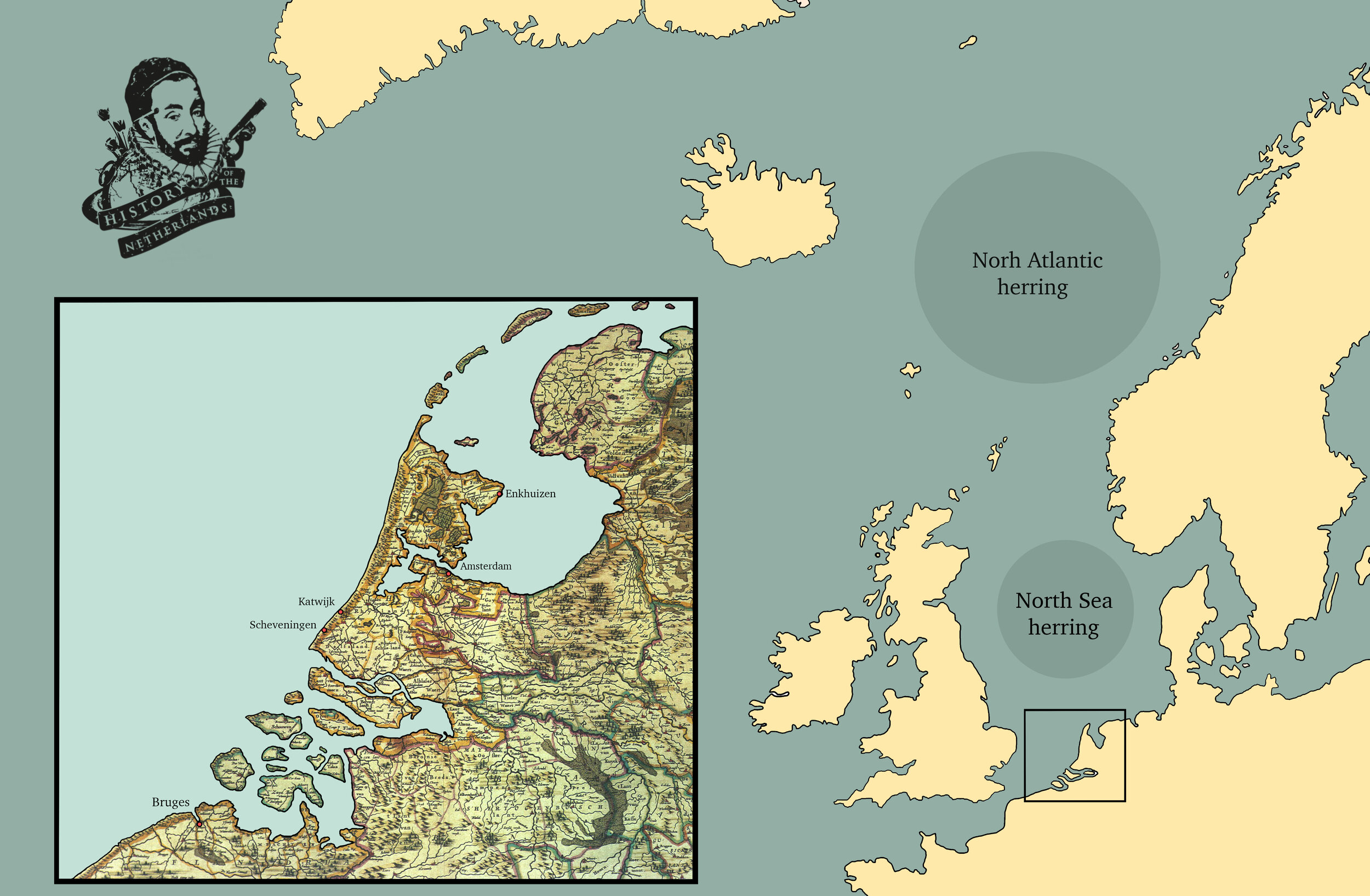 More herring could be found north in the Atlantic. Map by David Cenzer