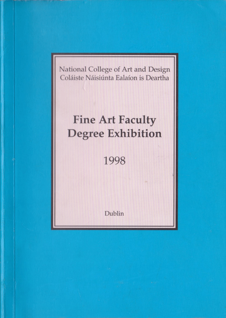 Jean Rooney Graduate Art Catalogue 1998