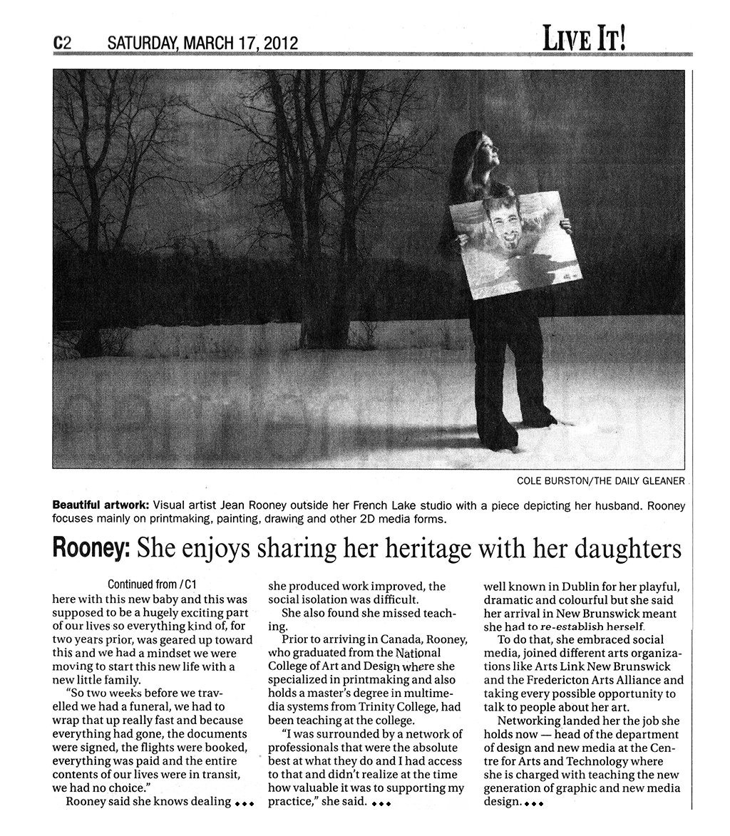 Jean Rooney Daily Gleaner Article 2012