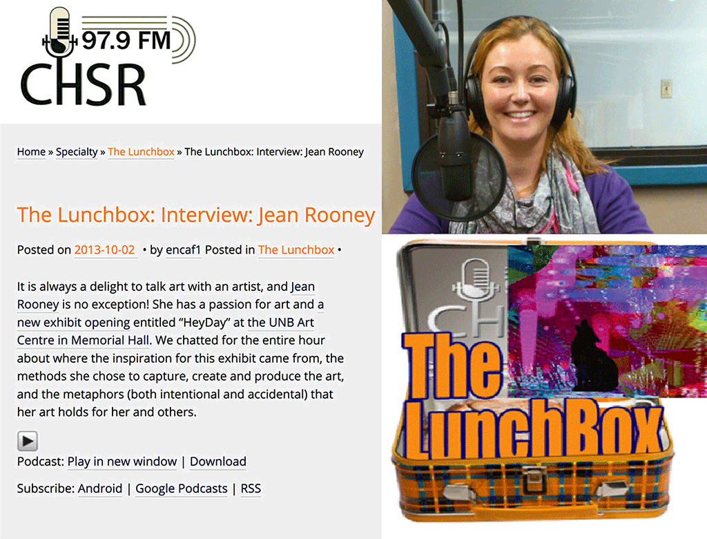 Radio Interview Rooney Exhibition CHSR FM