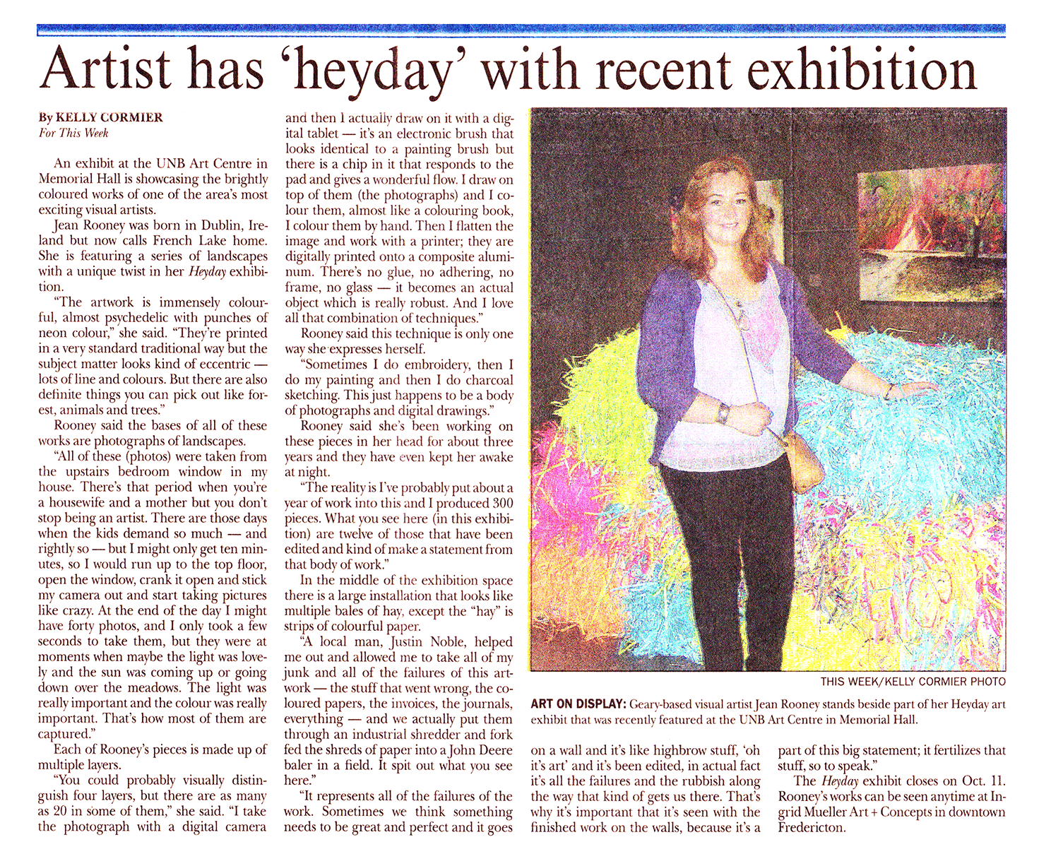 Heyday exhibition article Jean Rooney 2013