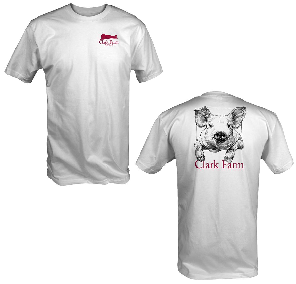 Clark Farm Pig Shirt White