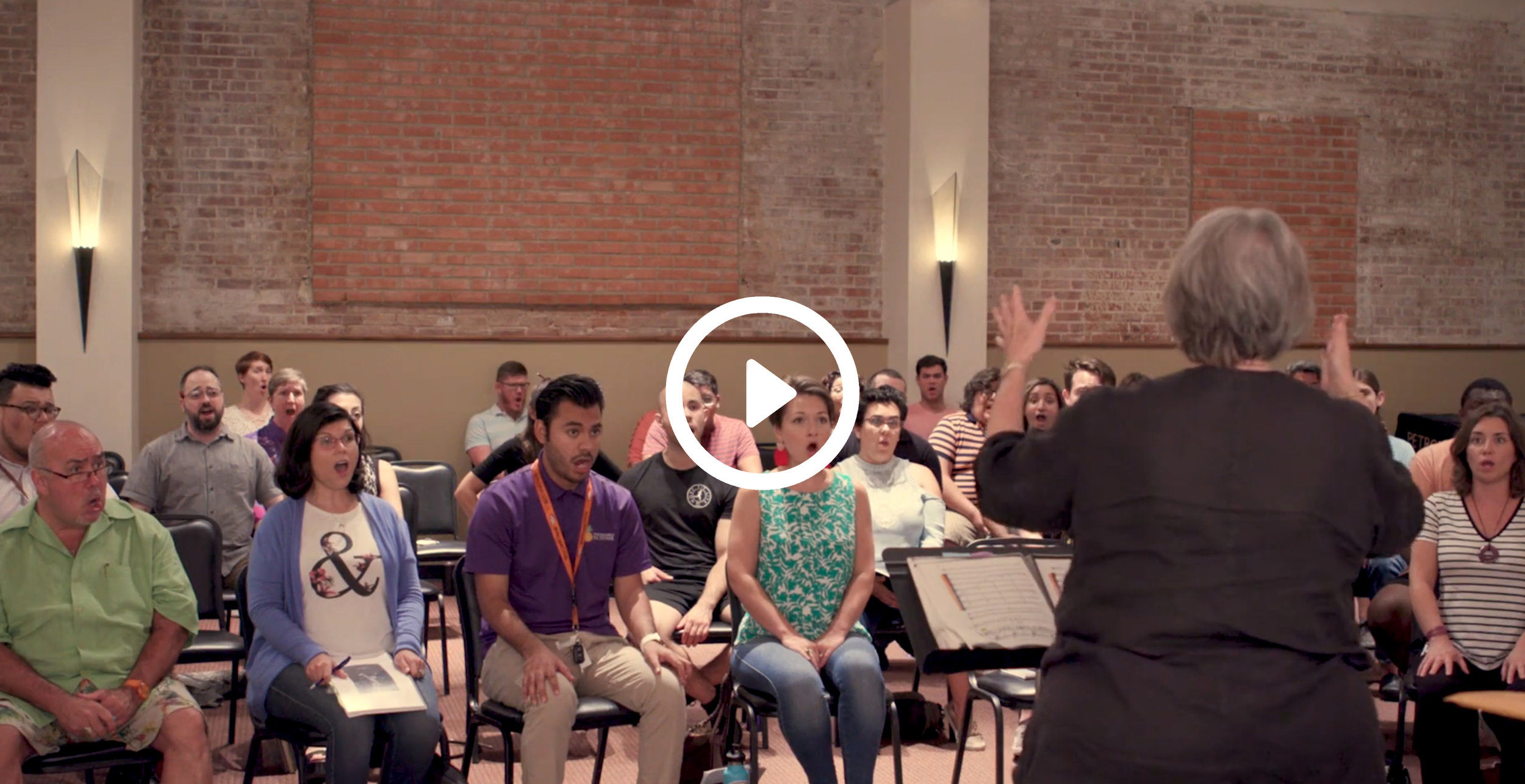 Chorus Preview - Listen to the powerful voices of our chorus, led by Dottie Randall