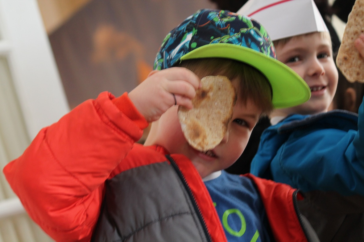 into awesome, crunchy, and delicious matzah! -