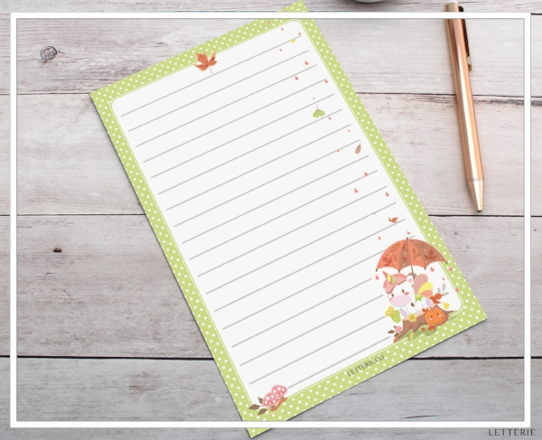 Fall Unicorn Letter Writing Paper