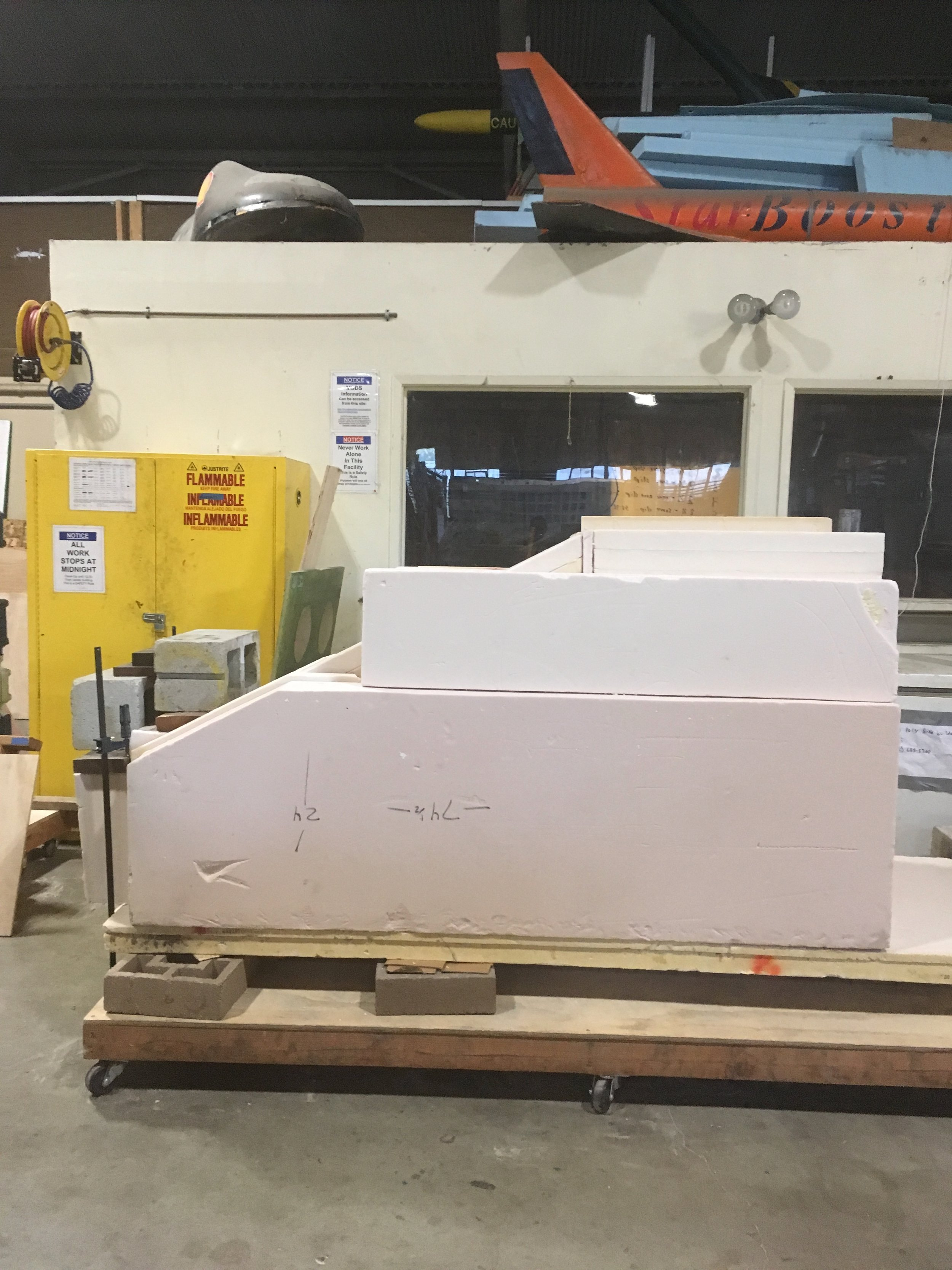 High-density foam was added to the frame and it was ready to be shaped.
