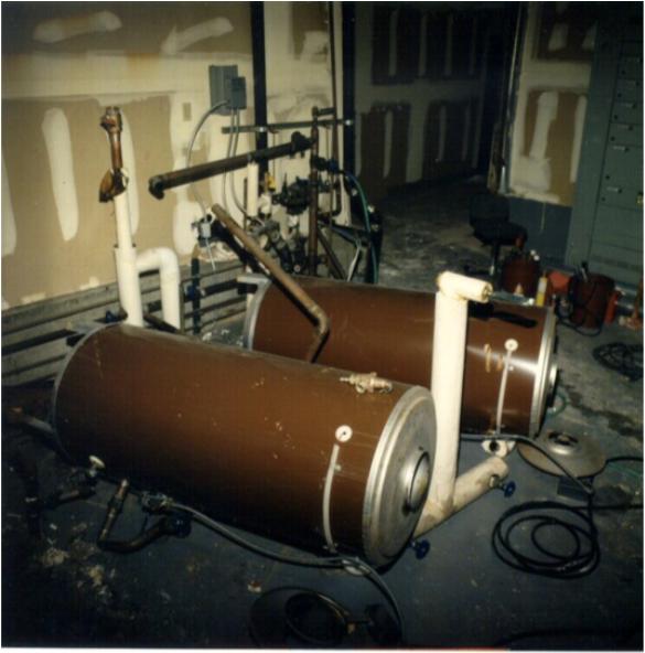 Figure 3: Unanchored water heaters overturned. Source: FEMA 74, see link below