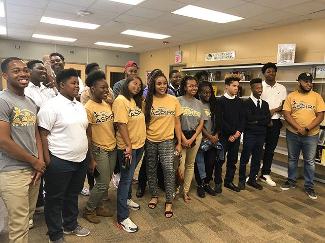 ASU ASPIRE mentors delivered a wonderful presentation to the students of a local alternative school. Our mentors left an impression that truly left the students excited about attending college at Alabama State university! 🐝