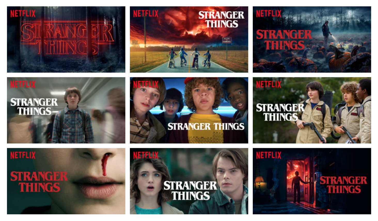 Netflix personalizes hundreds of movie thumbnails for a given user.
