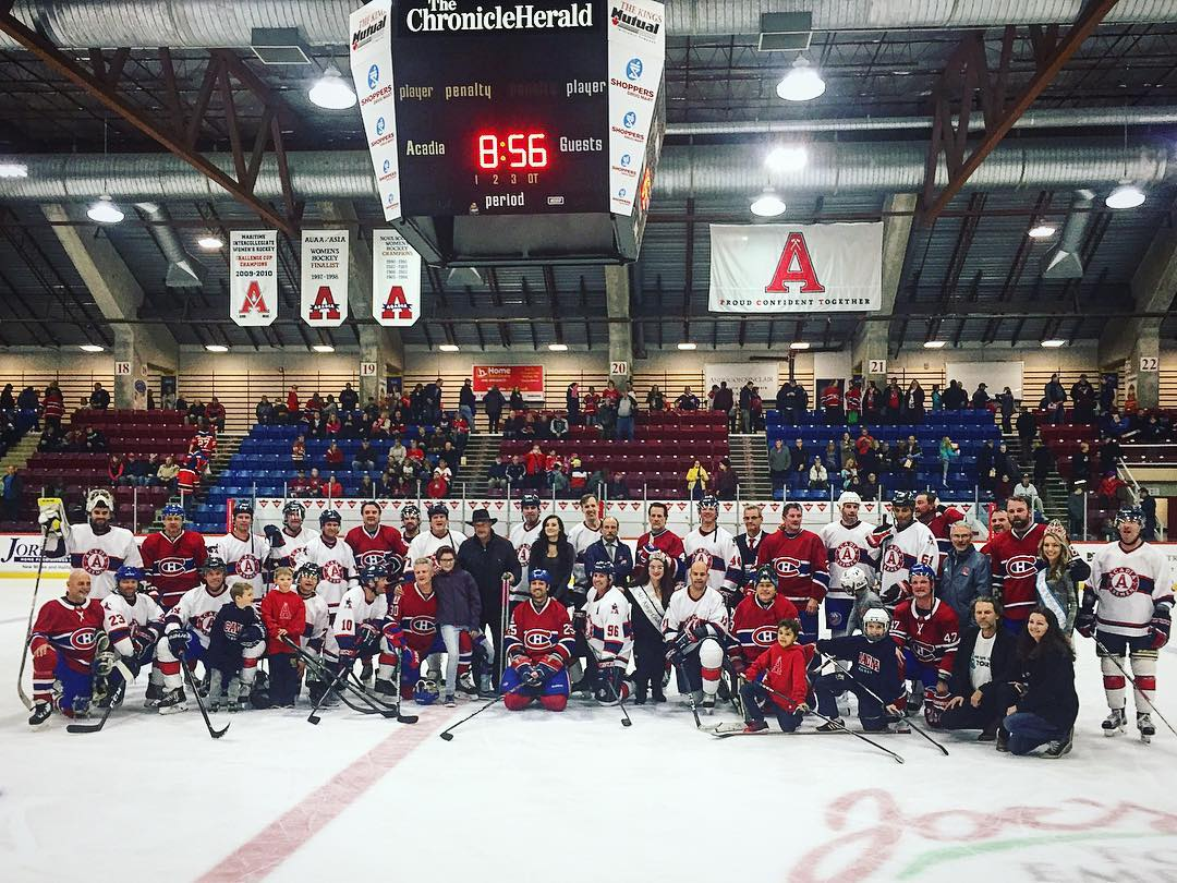 Montreal Canadiens Alumni Acadia Axemen No Time for That Anti-Bullying Elsie Morden 1.jpg