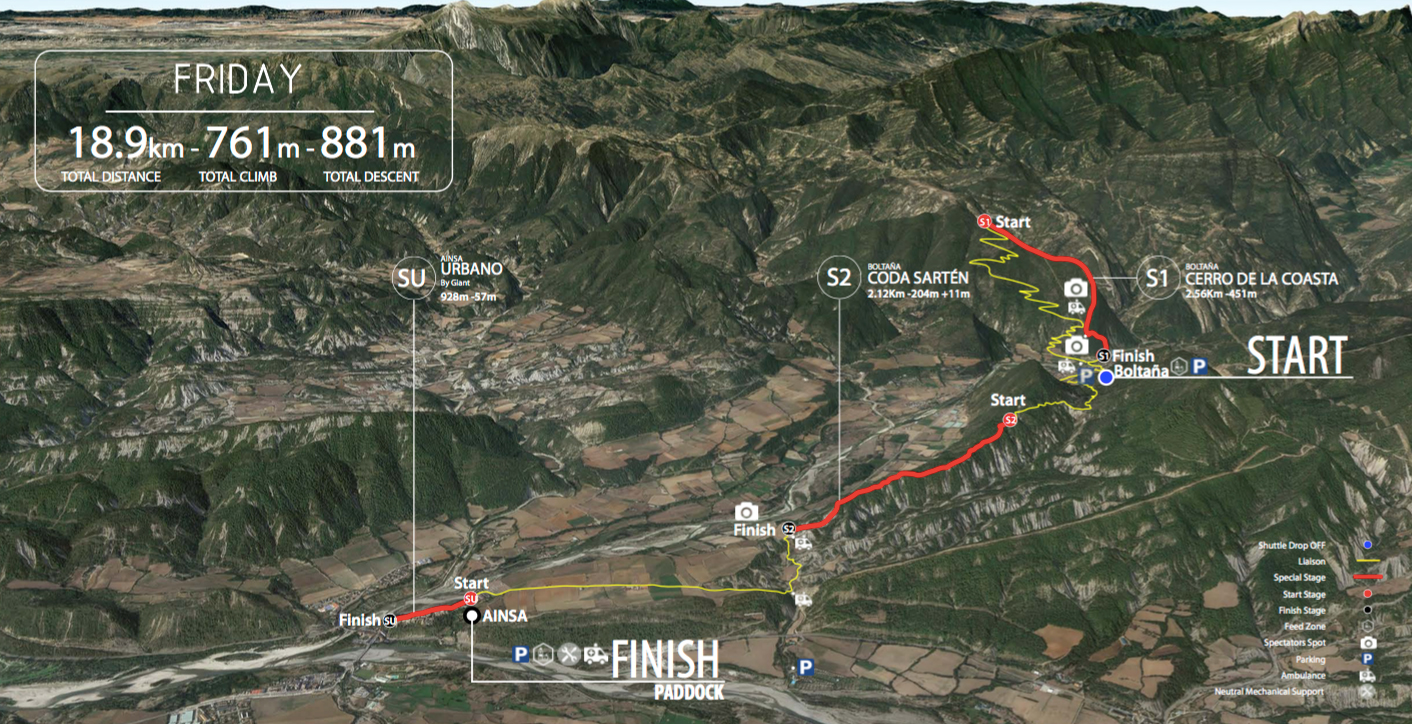 The EWS Challenger course map