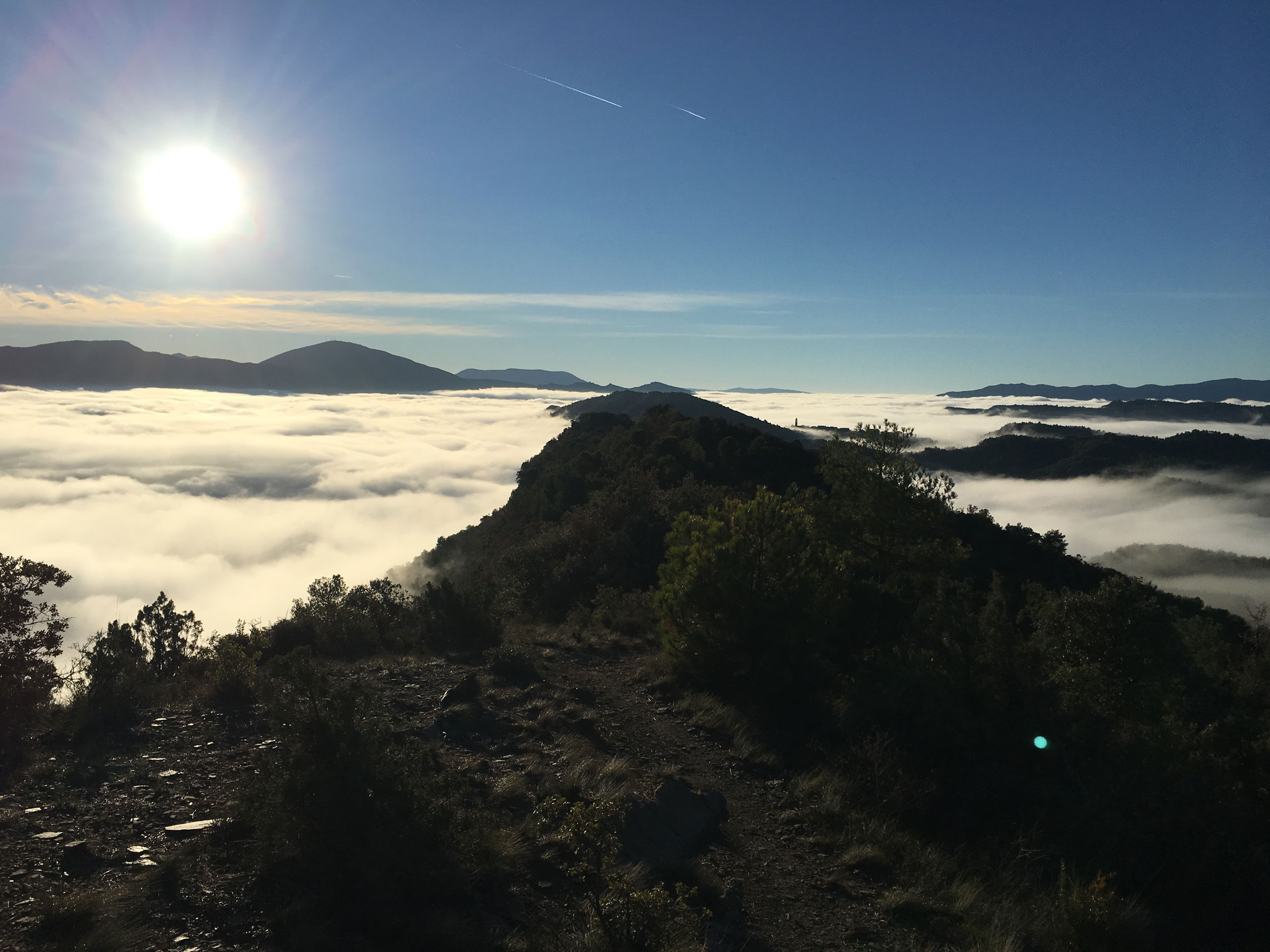 When you are lucky you can ride above the clouds on Miradores de Ainsa y Morillo