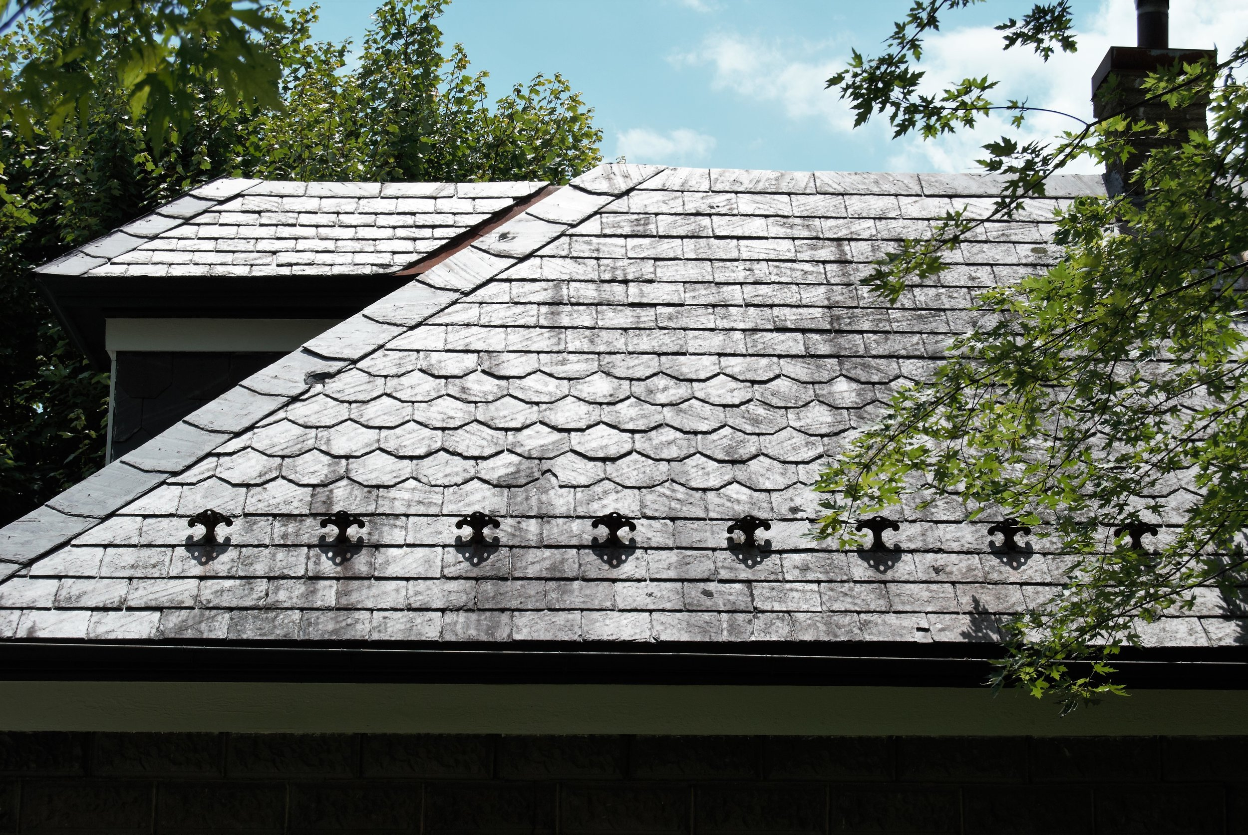 - Example of Slate Roofing on Borough Hall