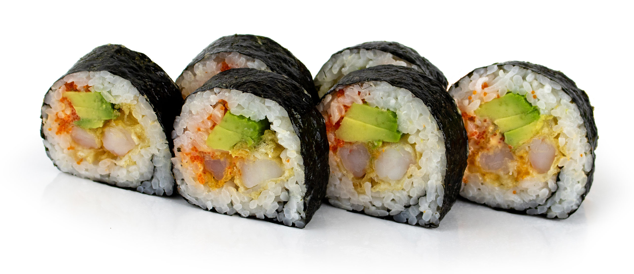 Spicy shrimp roll - The deep fried Tempura Shrimp goes so well with Momiji's house-made Spicy Sauce