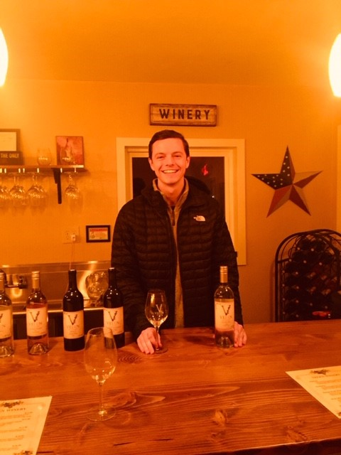 Velen Winery Assistant Wine Maker is Rebecca's sonAndrew Sullivan.Andrew, is an EMT in the Tri-Cities while waiting to go to Medical School. With all of Andrew's Chemistry back ground he is the perfect fit for Velen Winery. -