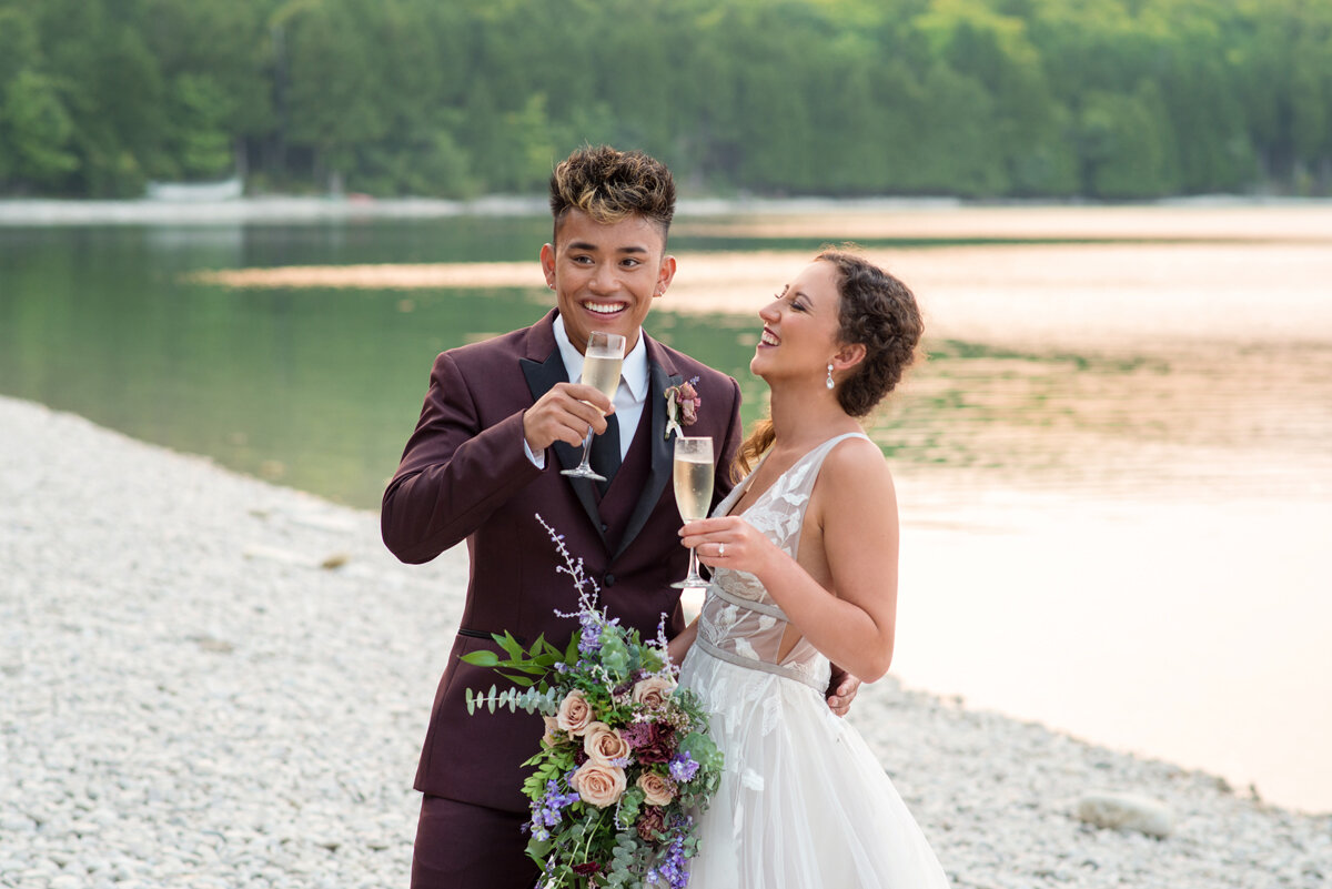 Styled shoot by  Kasey and Ben Photography  at Schoolhouse Beach.
