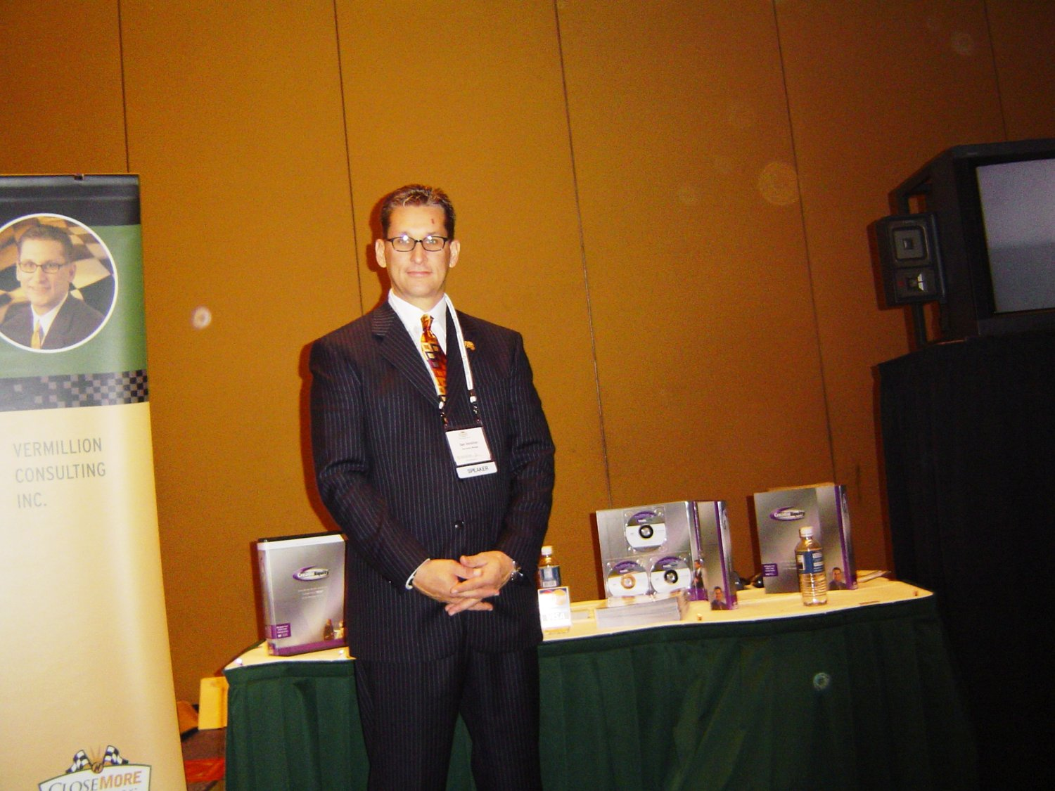 Dale at one of his first corporate training engagements, showcasing his flagship offering: CretivEquity | 1997