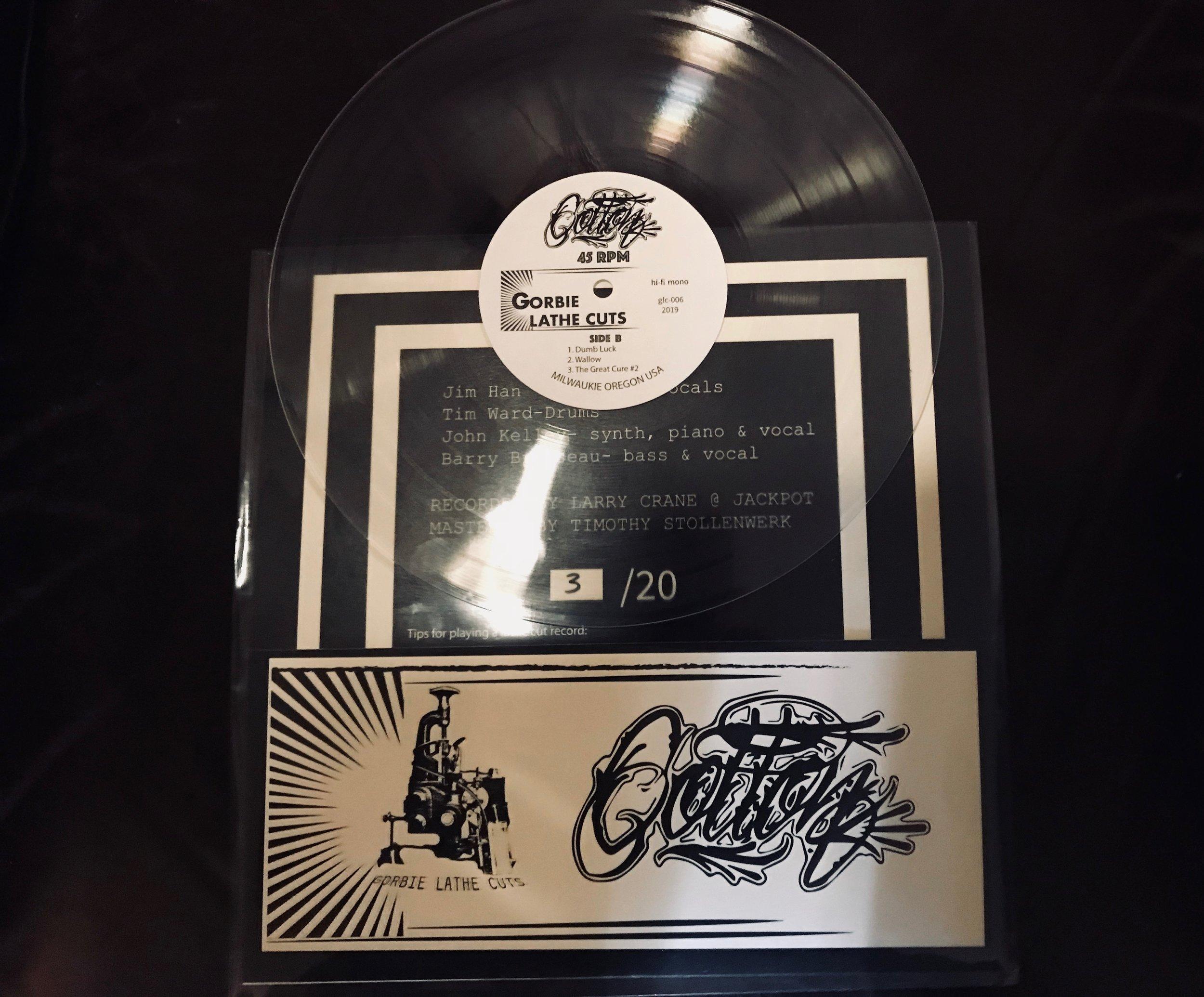 COTTON 6 SONG EP. CLEAR LATHE CUT!! -