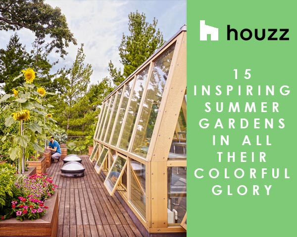 """LAKE VIEW MODERN FEATURED ON HOUZZ - The rooftop garden and green house of our Lake View Modern project was featured in a recent article on Houzz: """"15 Inspiring Summer Gardens In All Their Colorful Glory."""" Read more here.posted July 25, 2018 at 4:59pm"""
