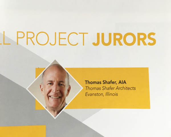 TOM SERVED ON THE JURY FOR THE 2018 AIA CHICAGO SMALL PROJECT AWARDS - AIA Chicago's Small Firm/Small Project Award recognizes high-quality work from small architectural firms and exceptional small local projects. You can see the selected finalists in the May/June Edition of Chicago Architect Magazine.posted May 30, 2018 at 2:12pm