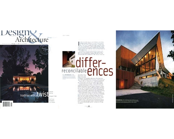 GRUNSFELD SHAFER ARCHITECTS COVER STORY IN DESIGN & ARCHITECTURE - Grunsfeld Shafer Architects was featured as the cover story for the premiere issue of Design & Architecture June/July 2004. Several projects by both Tony Grunsfeld and Thomas Shafer were highlighted in this article.posted on February 22, 2006 at 12:08pm