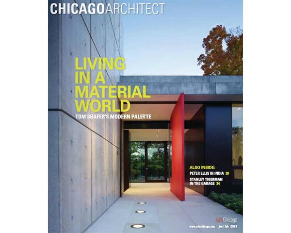 GROUNDED IN MODERNISM MAKES COVER OF CHICAGO ARCHITECT - To see the digital copy of Chicago Architect click here.posted on January 23, 2013 at 2:31pm