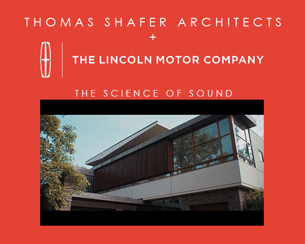 TSA + LINCOLN MOTOR CO. - North Shore Modern was used as a backdrop for Lincoln Motor Co.'s beautifully shot video about the 2016 LincolnMKX's audio system.To watch the video, click here.posted on Aug 24th, 2015 10:06am