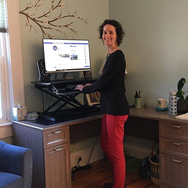 Sitting is the new smoking. Love my new stand up desk!