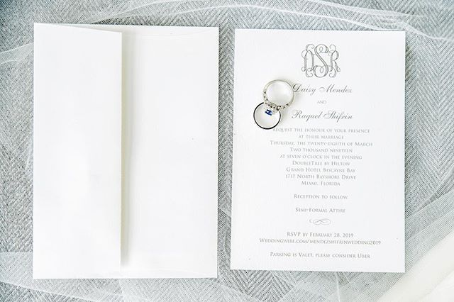Raquel & Daisy 3.28.18  #weddinginvitations #miamiweddings #miamieventplanner #weddingvideography