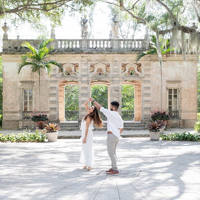 Had a great time with these two! #weddingvideographer #miamiwedding  #videographer #viscayamuseum