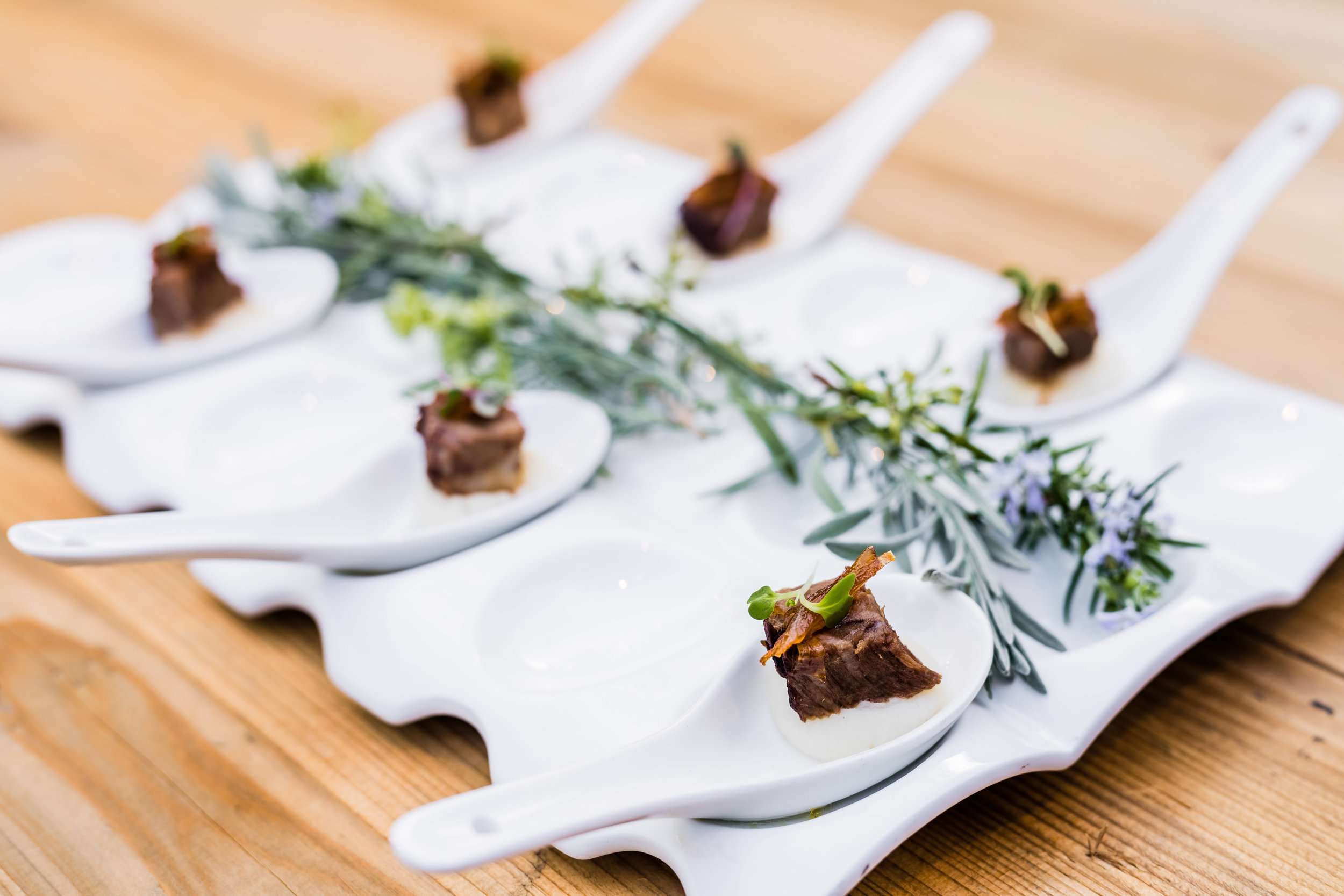 Candied Bacon Short Rib Amuse