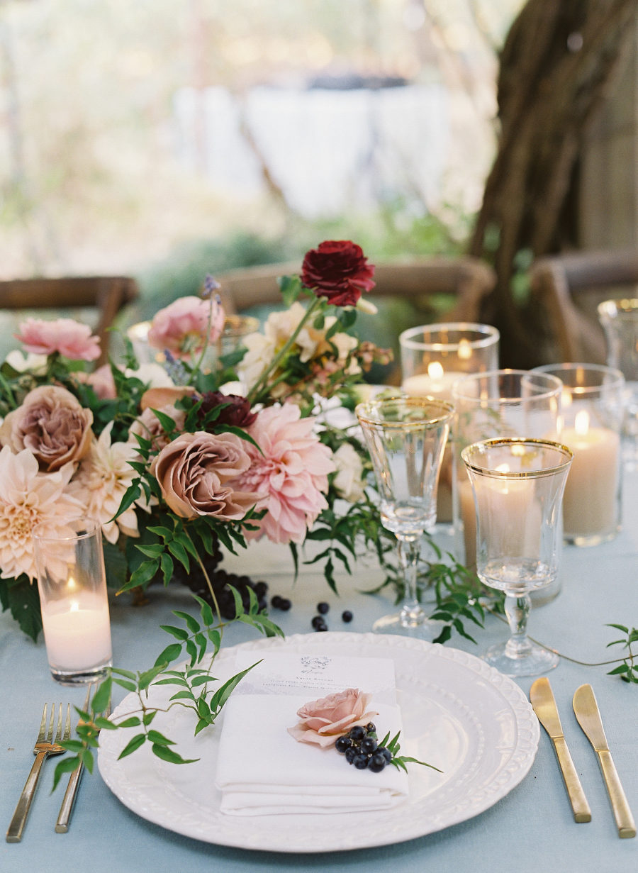 Wedding Place Setting with Florals