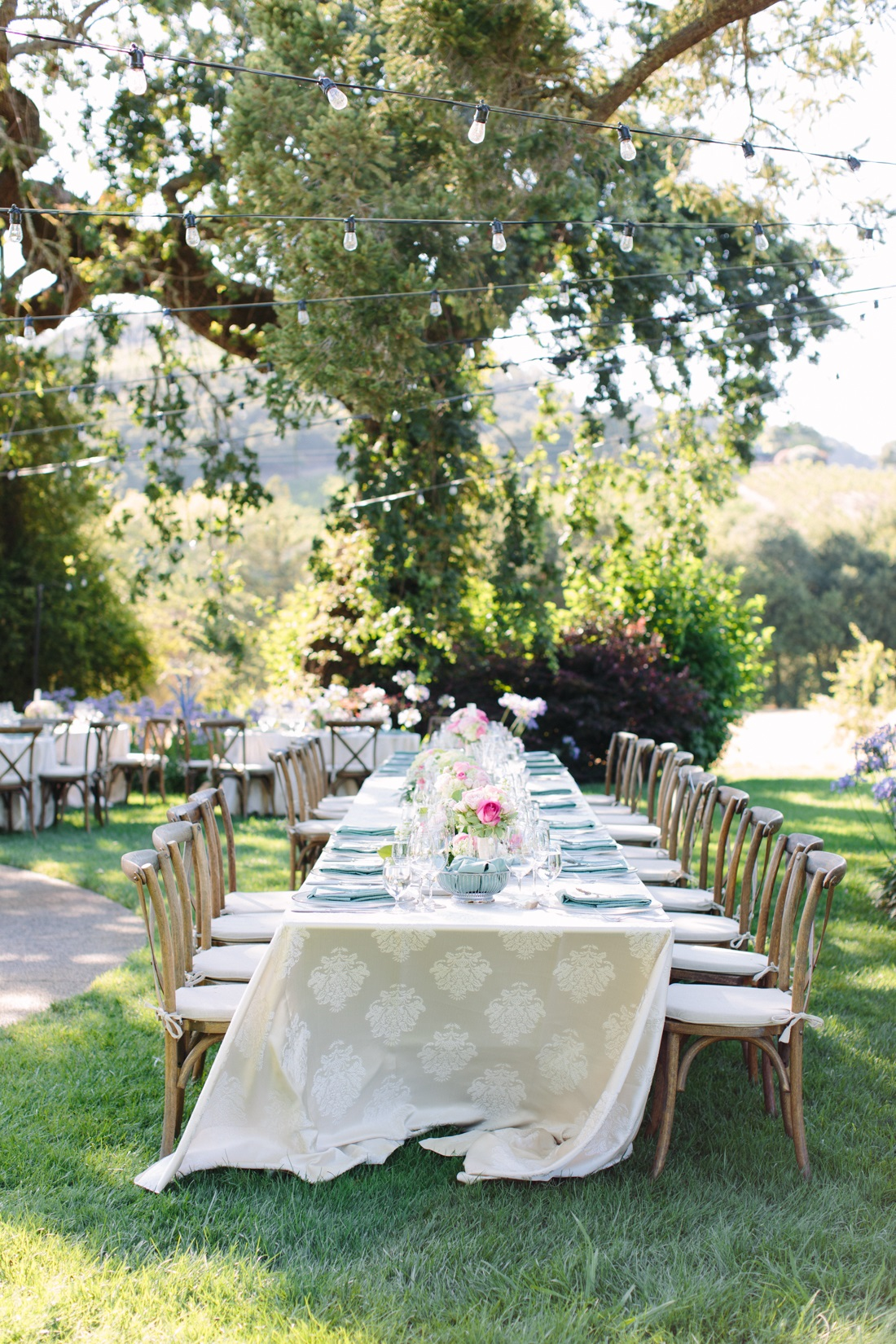 Al Fresco Wedding Reception Napa
