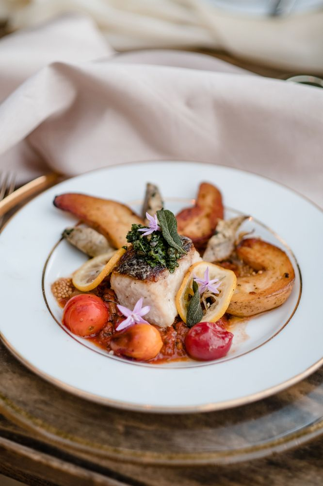 Seared Halibut with Fingerling Potatos
